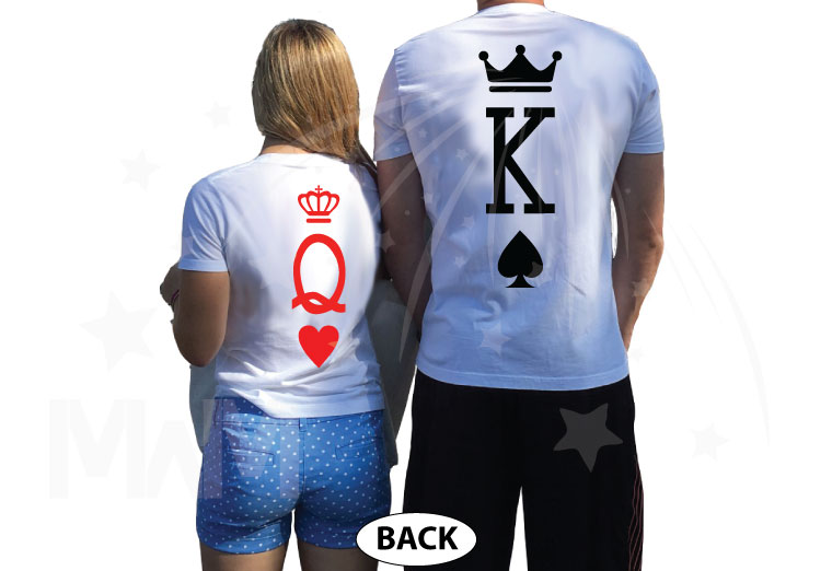 King and Queen, Cute Matching Shirts married with mickey white tshirts