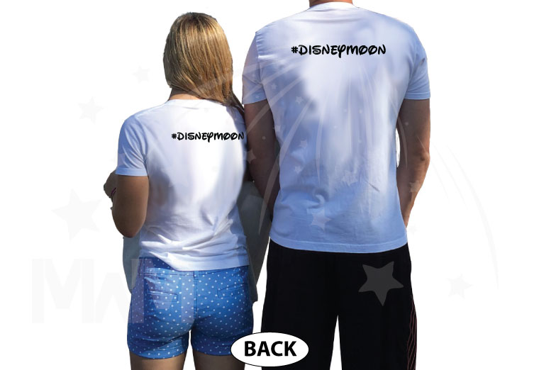 Wedding Wars, Episode 1, The Honeymoon, Disneymoon married with mickey world's cutest matching couple shirts white tshirts