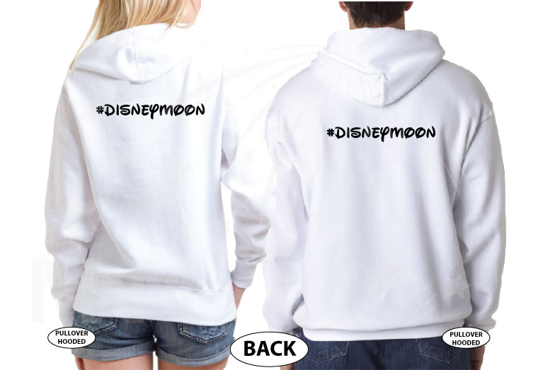 Wedding Wars, Episode 1, The Honeymoon, Disneymoon married with mickey world's cutest matching couple shirts white hoodies