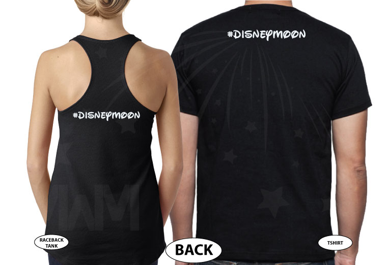 Wedding Wars, Episode 1, The Honeymoon, Disneymoon married with mickey world's cutest matching couple shirts black tee and tank