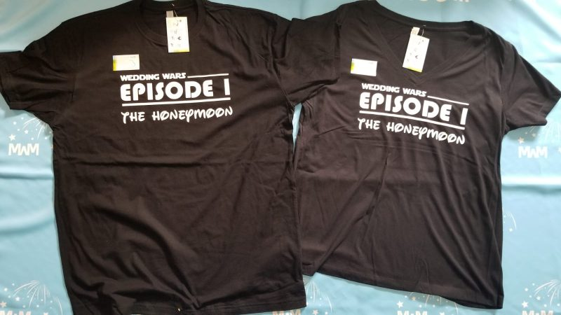 Wedding Wars, Episode 1, The Honeymoon, Disneymoon, married with mickey, matching black t shirts