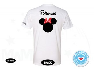 Disney Minnie Mouse Red Polka Dot Cute Bow Shirt With Custom Name, Next Level Premium Fitted Sueded Super Soft Crewneck, Married With Mickey 500232am