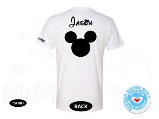 Disney Mickey Mouse Head Shirt With Custom Name, Next Level Premium Fitted Sueded Super Soft Crewneck, Married With Mickey 500236am
