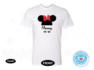 Mommy To Be Minnie Mouse Head Cute Red Bow Maternity Design, Next Level Premium Fitted Sueded Super Soft Crewneck, Married With Mickey 500366am