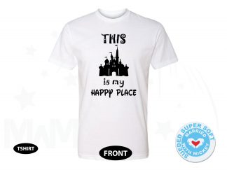 This Is My Happy Place Cinderella Castle, Next Level Premium Fitted Sueded Super Soft Crewneck, Married With Mickey 500382am