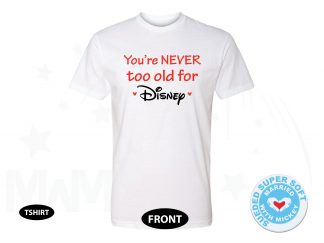 You're NEVER too old for Disney, Next Level Premium Fitted Sueded Super Soft Crewneck, Married With Mickey 500387am