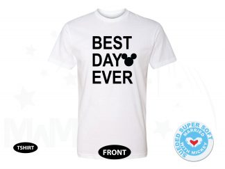 Best Day Ever Mickey Head, Next Level Premium Fitted Sueded Super Soft Crewneck, Married With Mickey 500407am