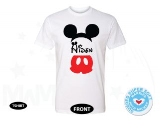 Mickey Mouse Costume Mickey Pants Ears With Custom Name, Next Level Premium Fitted Sueded Super Soft Crewneck, Married With Mickey 500408am