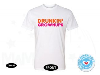 Drunking Grownups, Next Level Premium Fitted Sueded Super Soft Crewneck, Married With Mickey 500430am