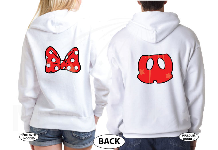 Mr and Mrs Cinderella Castle Mickey Head, #Anniversary, Minnie Mouse Cute Bow, Mickey Mouse Pants married with mickey white hoodies