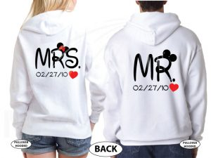 Mr and Mrs Cutest Matching Couple Shirts, Mickey and Minnie Pirates with Swords world's cutest matching couple shirts married with mickey white hoodies