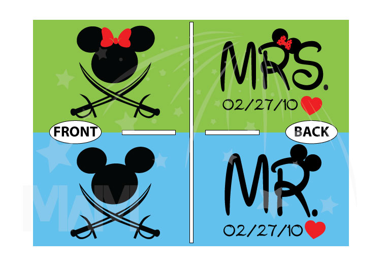 Mr and Mrs Cutest Matching Couple Shirts, Mickey and Minnie Pirates with Swords world's cutest matching couple shirts married with mickey
