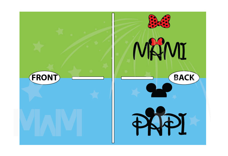 Disney Matching Family Shirts, Mami and Papi, Mickey Mouse Head, Minnie Mouse Cute Polk Dots Red Bow On Hood, Married With Mickey the world's cutest matching family shirts
