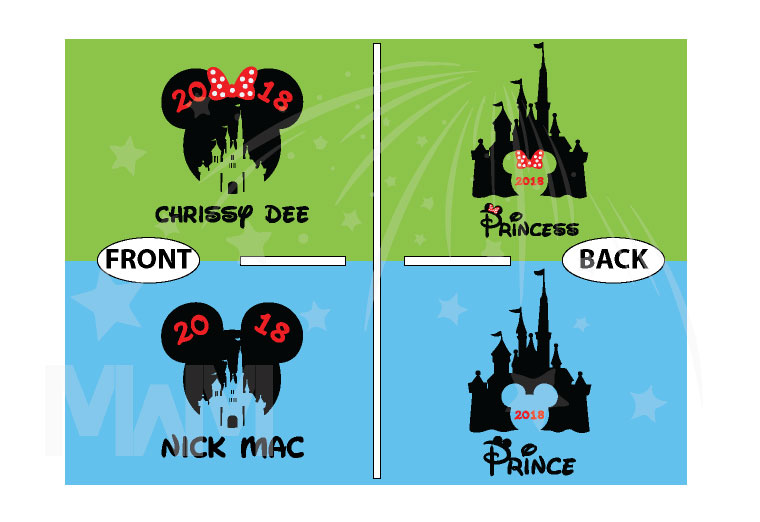 Matching Couple Shirts, Cinderella Castle, Prince and Princess, Mickey and Minnie Mouse Head with Castle and Names, married with mickey, the world's cutest matching couple shirts