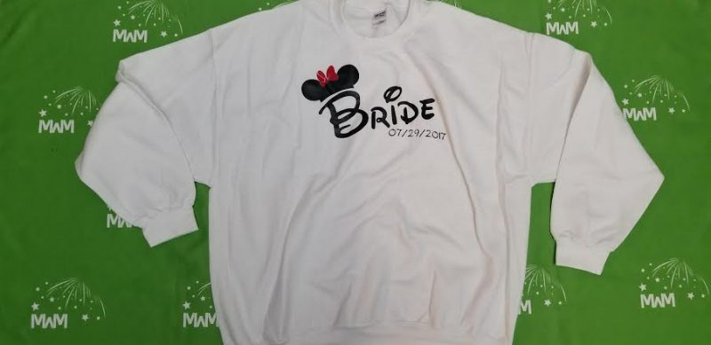Super Sale, Clearance, White Unisex Sweater 2XL, Bride 07/29/2017 (front), Married With Mickey, c225
