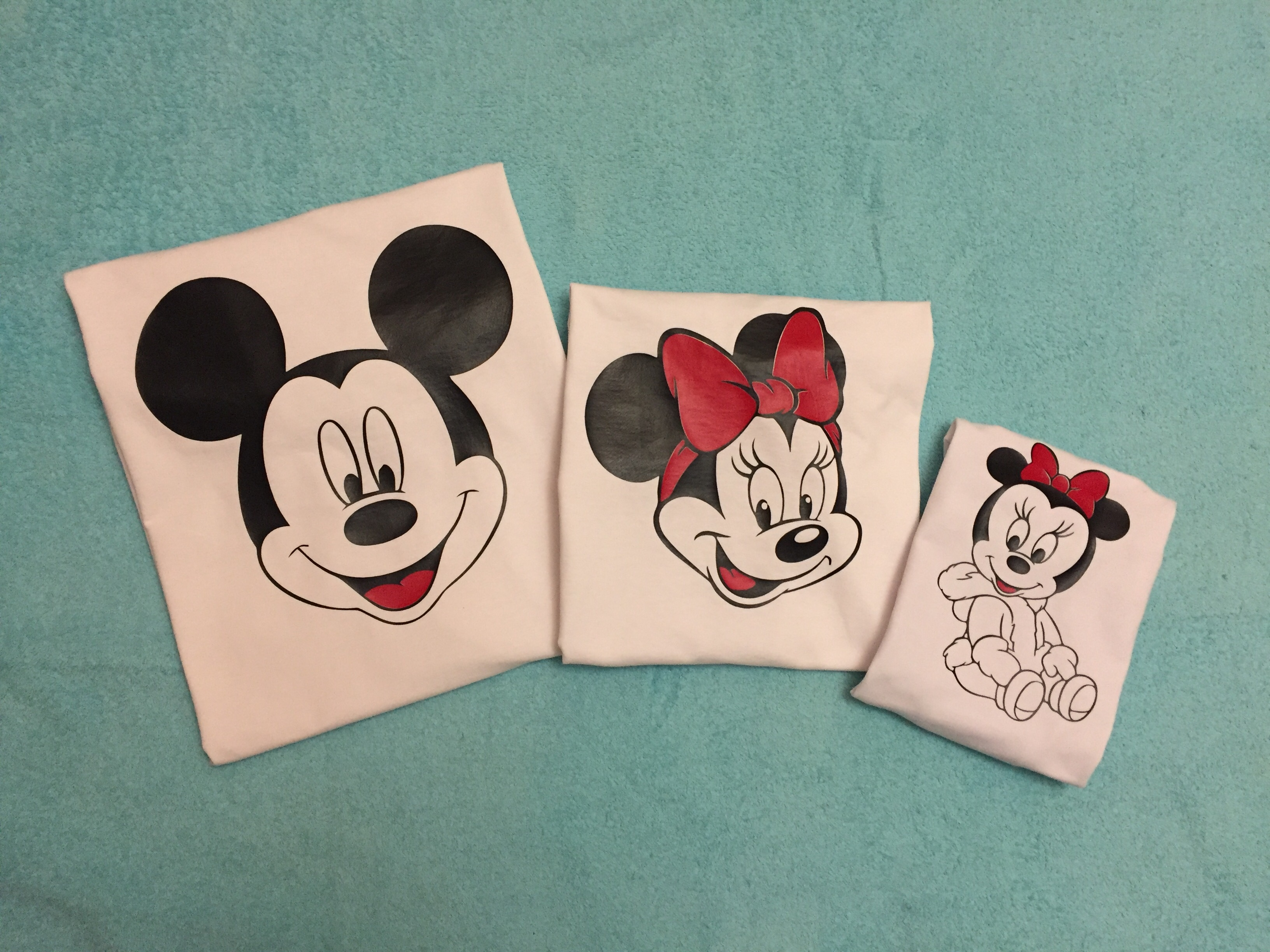 Adorable Matching Family Look Mickey Mouse Dad Minnie Mouse Mom