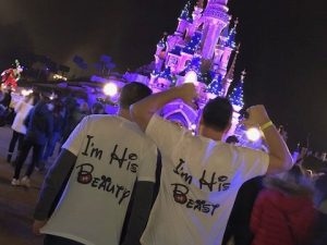 LGBT Gay I'm His Beauty I'm His Beast Matching Shirts married with mickey white t shirts