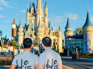 LGBT Gay His Matching Couple Shirts Mickey Mouse Cute Kissing married with mickey, grey mens t shirts