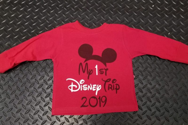 My 1st First Disney Trip 2017 Boy's Toddler grey hoodie Married With Mickey, red toddler long sleeve