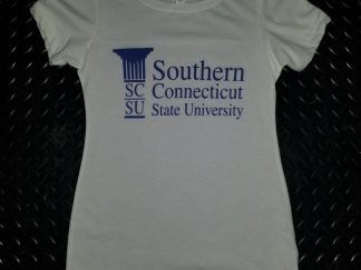 SCSU Southern Connecticut State University, ladies white t shirt