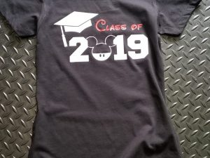 Graduation class 2019 Disney shirt, Mickey Mouse head, married with mickey, ladies black v neck