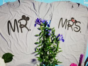 Mr and Mrs World's Cutest Matching Couple Shirts, Mickey Minnie Mouse Holding Hands, Disney Cute Couple, Married With Mickey TM, grey matching t shirts