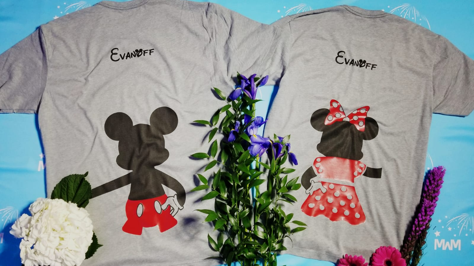 52ecfa8e9 Mr and Mrs World's Cutest Matching Couple Shirts, Mickey Minnie Mouse  Holding Hands, Disney