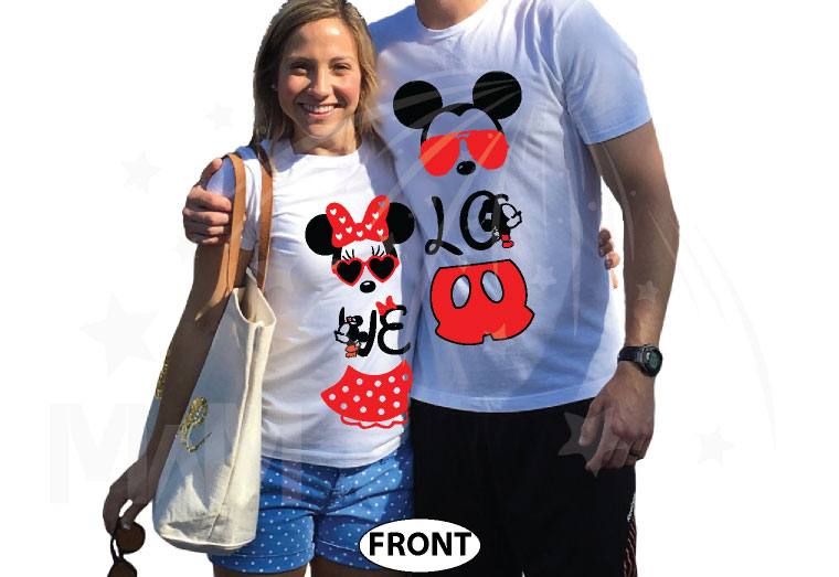 Super Cute Matching Mickey and Minnie Mouse Shirts, married with mickey, white t shirts