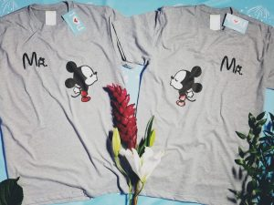 Disney homosexual LGBT Gay matching couple t shirts for Mr, cute kiss Mickey Mouse, Disneyland honeymoon vacation trip. married with mickey men grey t shirts