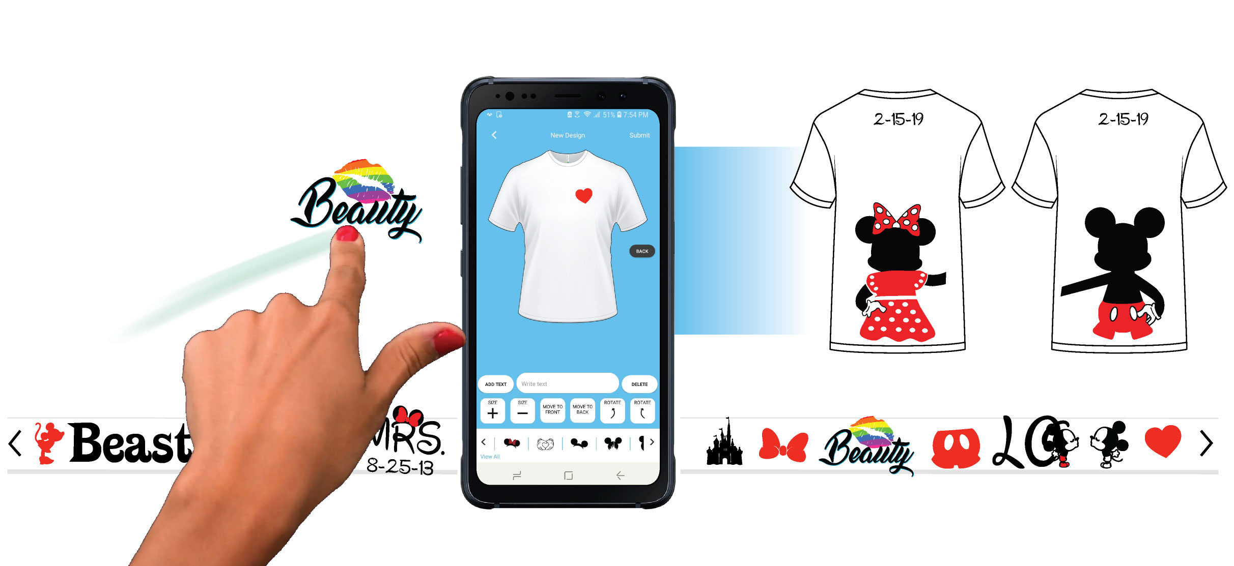 Married with Mickey T shirt google play mobile application