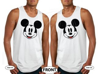 LGBT Gay matching Mickey Mouse tshirts, I'm His Mickey and He's My Mickey, married with mickey, white mens tank tops