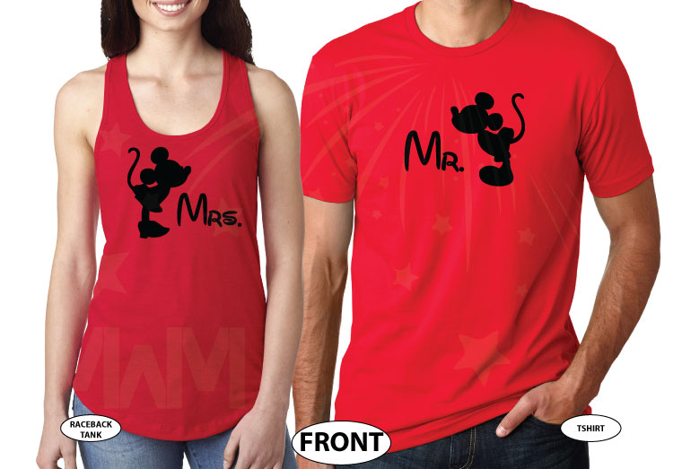 Disney gift shirts for women couple designs shirt family vacation svg adult men custom etsy target forever 21 amazon store Disneyland Mickey, married with mickey, red tee and tank