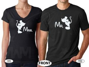 Disney gift shirts for women couple designs shirt family vacation svg adult men custom etsy target forever 21 amazon store Disneyland Mickey, married with mickey, black tee and v neck tee