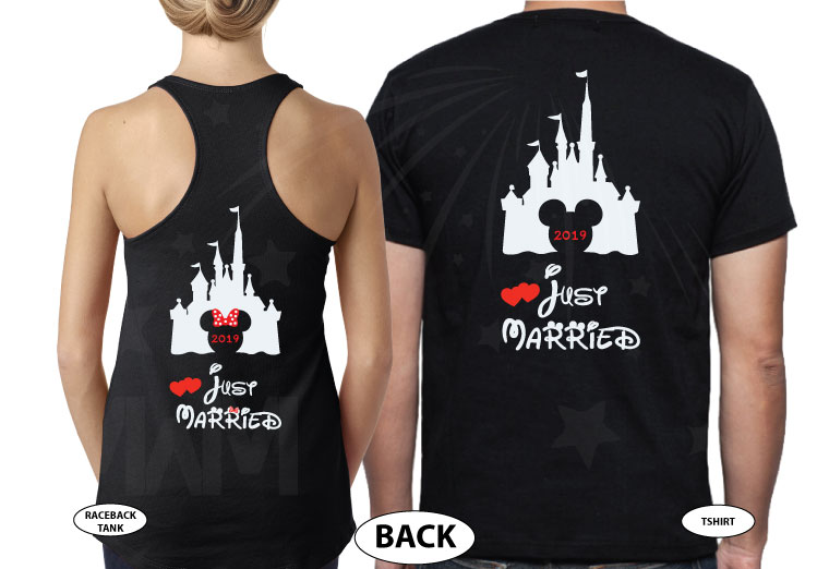 Disney gift shirts for women couple designs shirt family vacation svg adult men custom etsy target forever 21 amazon store Disneyland Mickey, married with mickey, black tee and tank
