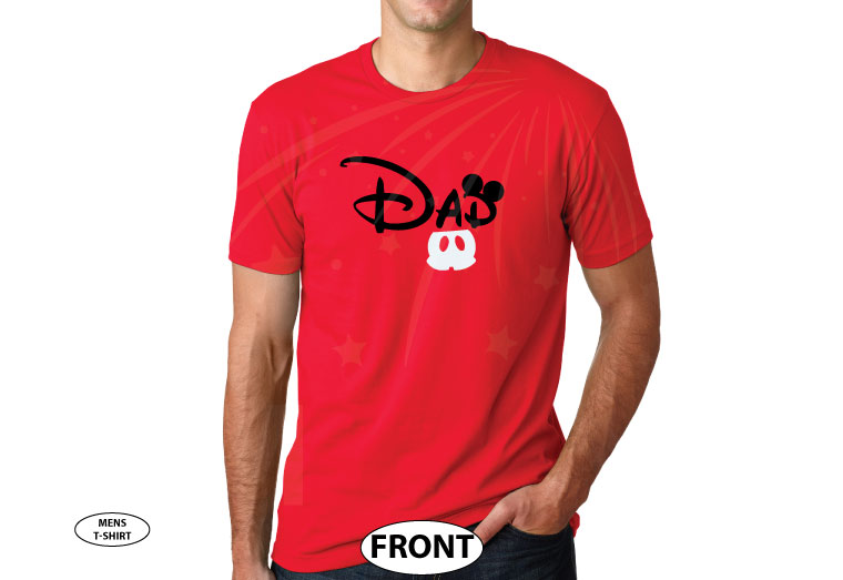 Dad t shirt Customized Disney for mens gift, Mickey Mouse ears and cute red pants, Disney World family vacation parent etsy store hoodie lol, married with mickey, red t-shirt