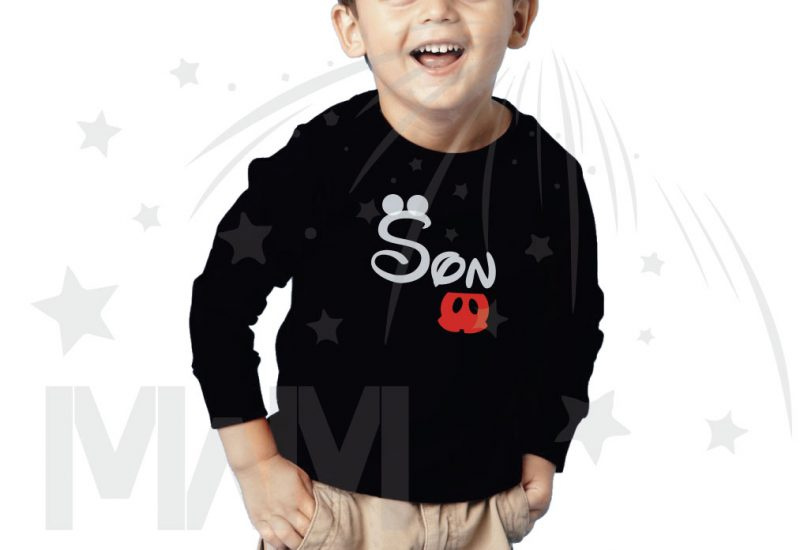 Disney inspired shirt for Son, married with mickey, black toddler long sleeve t-shirt