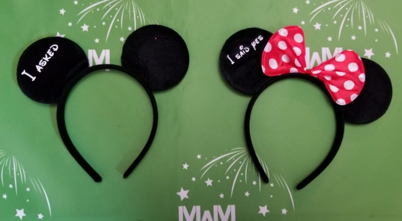 Mickey and Minnie Ears matching Disney World Mouse Ear party his hers gifts bridesmaid surprise add personalize names