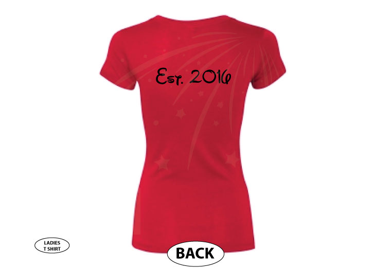 Beauty shirt for Mrs, married with mickey, red ladies tshirt