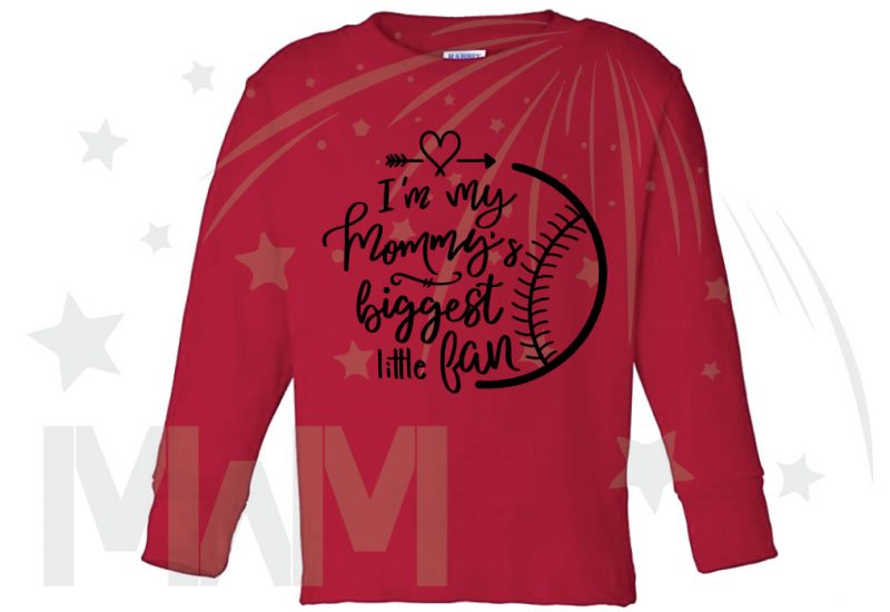 I'm my mommy's biggest fan, married with mickey, red long sleeve toddler t-shirt
