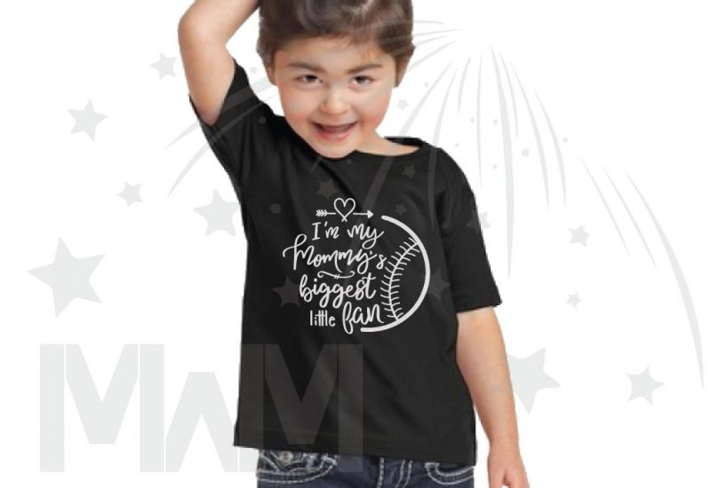 I'm my mommy's biggest fan, married with mickey, black toddler t-shirt