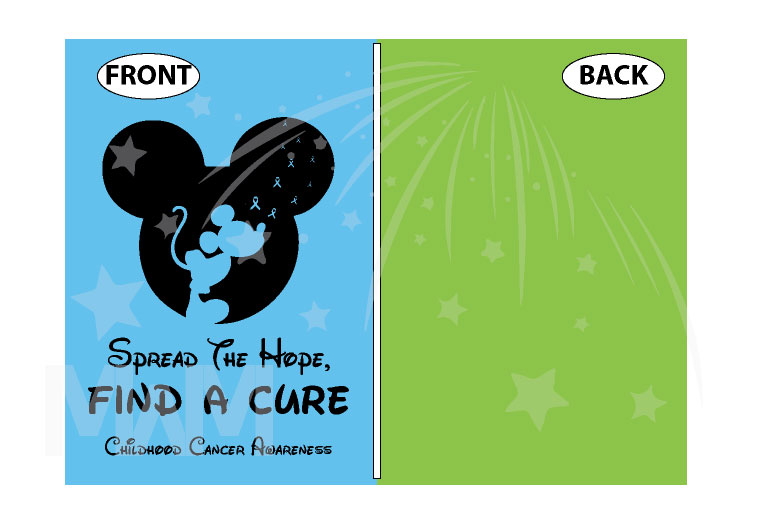 Spread The Hope Find a Cure Childhood Cancer Awareness slogan with Mickey Mouse silhouette shirt store custom create make your own etsy, married with mickey