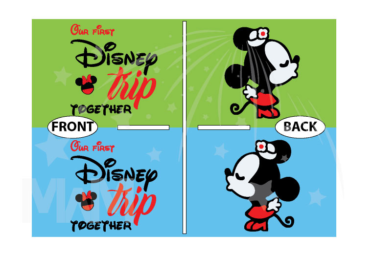 LGBTQ matching Lesbians Disney couple shirts with mini Minnie Mouse cute kiss and Our first Disney trip together disneymoon honeymoon tanks, married with mickey