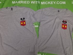 Disney park inspired I wanted the D I gave her D She wants D funny cool matching couple shirts with Mickey and Minnie Mouse in pockets etsy, married with mickey tee, matching couple grey tees