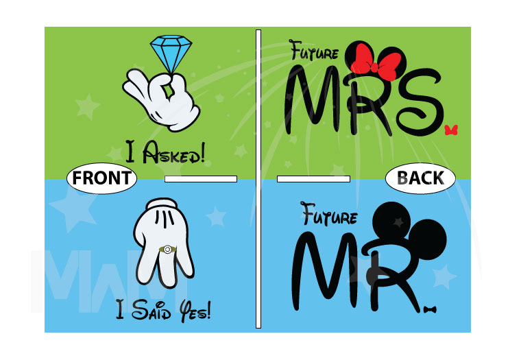 Cutest proposal shirts, I asked She said Yes! with awesome diamond ring Mickey and Minnie Mouse hands Disney inspired for future Mr Mrs etsy, married with mickey