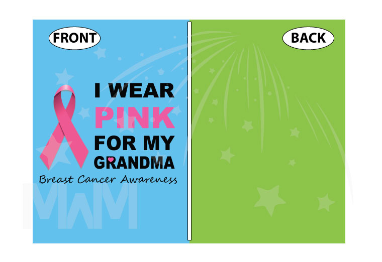 Breast cancer awareness I wear pick for my grandma, married with mickey