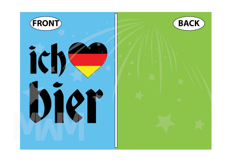 ich heart bier love beer with german flag, married with mickey etsy