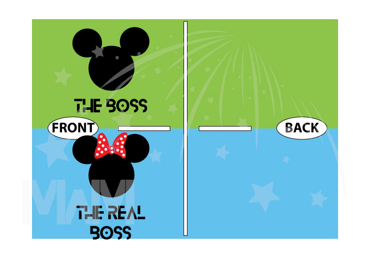 The Boss Real Boss matching couple shirts with Mickey and Minnie Mouse Disney universe walmart target forever 21 etsy store kohls orlando, married with mickey