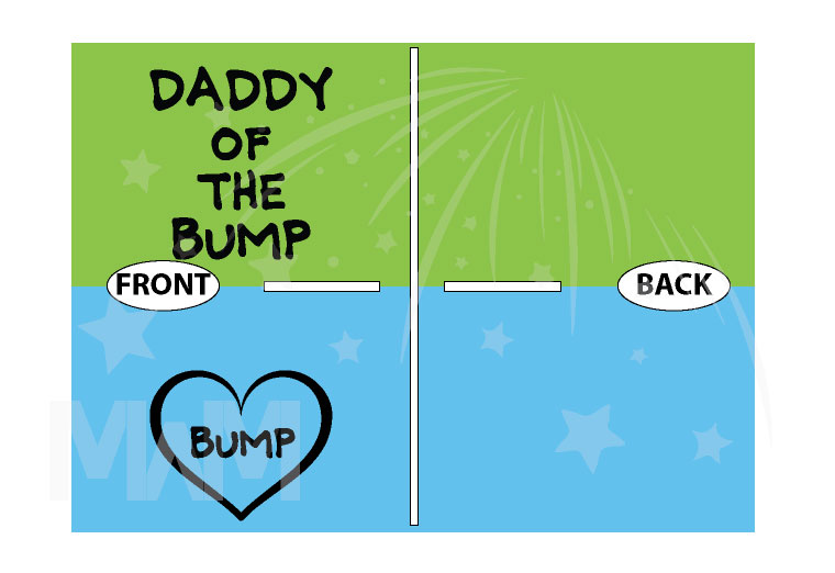 Daddy of the bump matching parents to be funny shirts cool couple apparel married with mickey